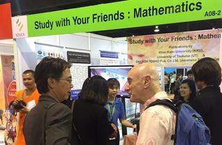 EDUCAコンケン大学-筑波大学-学校図書「みんなと学ぶ算数・数学」展示